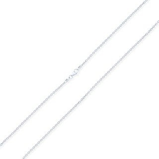 Bling Jewelry Rolo Cable Chain 060 Gauge Gold Plated 925 Sterling Silver