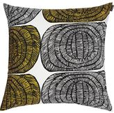 "Marimekko Mehiläispesä Yellow and White 20"" Pillow"