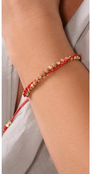 Shashi Petit Nugget Adjustable Bracelet
