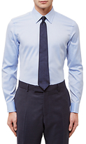 Jaeger Dobby Textured Slim Fit Shirt, Blue