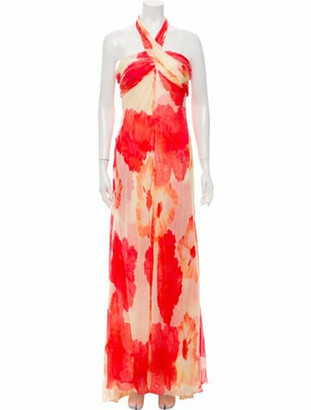Carmen Marc Valvo Silk Long Dress