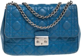 Christian Dior Blue Cannage Leather Miss Shoulder Bag