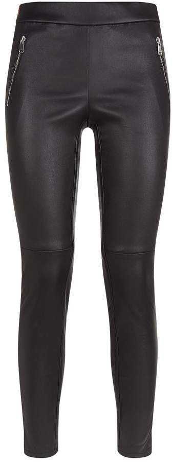 Alexander McQueen Striped Leather Leggings