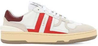 Lanvin 20mm Leather & Mesh Sneakers