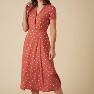 Emily And Fin Adele Desert Rose Dot Midi Dress - 16