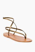 K. Jacques Bronze Delta Sandals