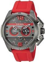 Diesel Men's DZ4388 Ironside Gunmetal Red Silicone Watch