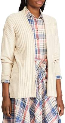 Chaps Rib-Knit Open-Front Cardigan