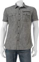Rock & Republic Big & Tall Classic-Fit Chambray Stretch Button-Down Shirt