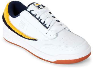 Fila White & Navy Original Tennis Varsity Low-Top Sneakers