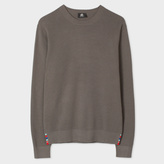 Paul Smith Men's Grey Cotton-Blend Textured-Knit Sweater