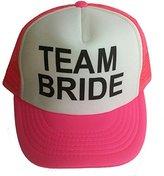 ThatsRad Neon Team Bride Mesh Trucker Hat Cap Bachelorette Party Wedding Snapback