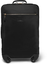 Paul Smith Leather-trimmed Shell Carry-on Suitcase - Black