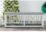 Safavieh Branco White/ Grey Outdoor Bench