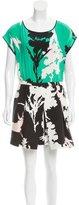 Tibi Printed A-Line Dress