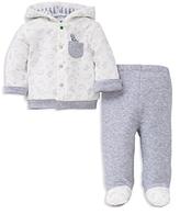 Little Me Boys' Dino Print Hoodie & Footie Pants Set - Baby