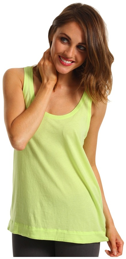 Vince Camuto TWO by Jersey Tank w/ Rayon Back (Bright Aloe) - Apparel