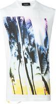 DSQUARED2 palm tree print T-shirt