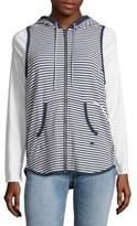 Tommy Hilfiger Striped Sleeveless Hoodie