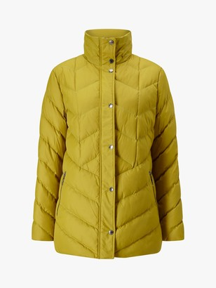 Four Seasons Longline Puffer Jacket, Dark Yellow
