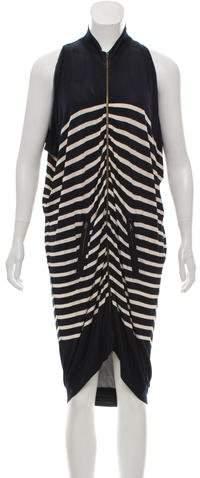 Jean Paul Gaultier Soleil Striped Midi Dress