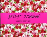 Betsey Johnson Floral Flowers Queen Sheet Set XoX Betsey Sheets