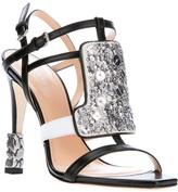Calvin Klein Collection sequin panel sandal