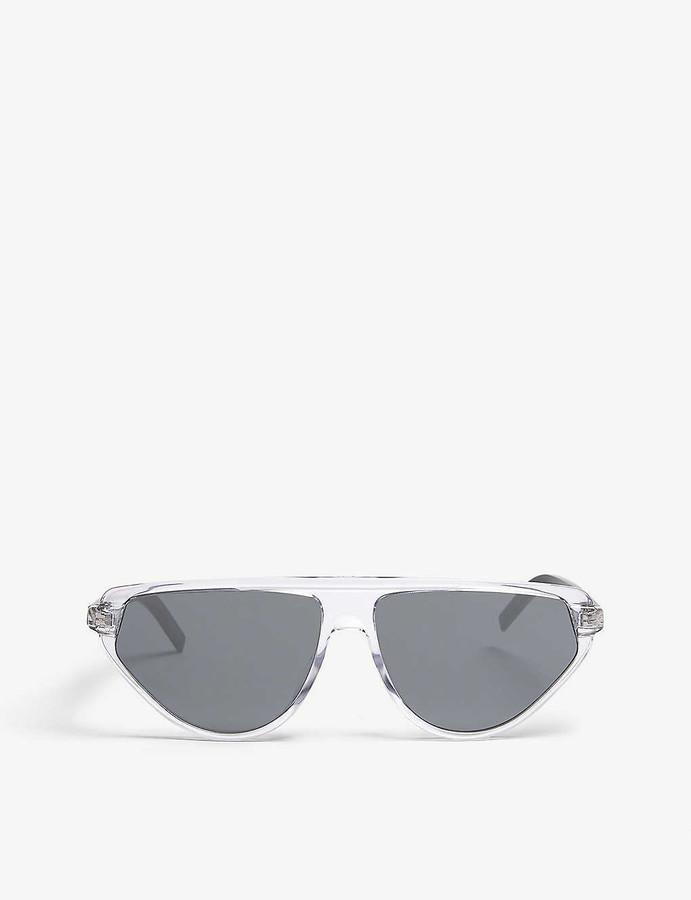 Christian Dior Women's Silver Luxury Blacktie247S Pilot-Frame Sunglasses