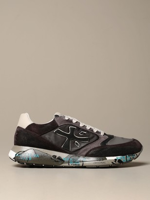 Premiata Zac-zac Sneakers In Suede And Nylon