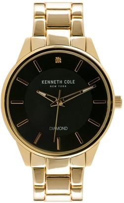 Kenneth Cole New York Goldtone Stainless Steel & Diamond Bracelet Watch