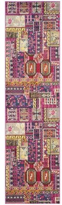 """Bungalow Rose Chana Abstract Pink Area Rug Rug Size: Runner 2'2"""" x 8'"""