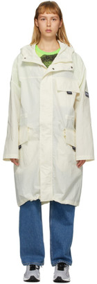 Martine Rose White A-Lantic Packable Coat