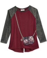 Jessica Simpson Purse-Pocket T-Shirt, Girls (7-16)