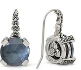 Stephen Dweck Women's 925 Sterling Silver Crystal Quartz, White Mother of Pearl and Hematite Drop Earrings