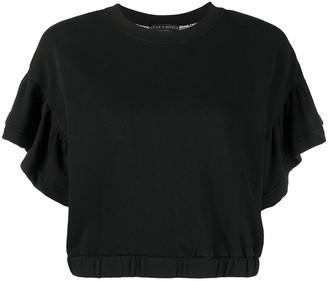 Alice + Olivia Joline cropped sweatshirt top