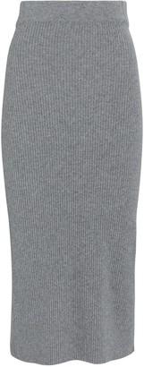 Andamane Eulalia Rib Knit Midi Skirt