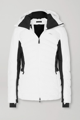 Kjus Duana Two-tone Hooded Quilted Down Ski Jacket - White