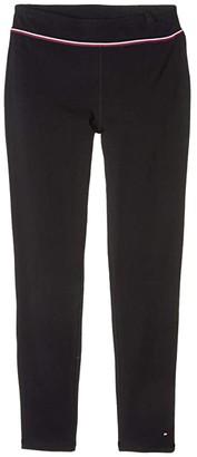 Tommy Hilfiger High-Waist Leggings (Big Kids) (Moonless Night) Girl's Casual Pants