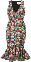 Nicole Miller floral print sleeveless dress - women - Cotton/Polyamide/Polyester/metal - 4