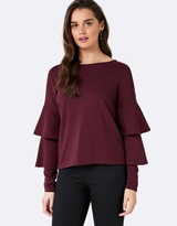 Forever New Lucia Double Layered Frill Top