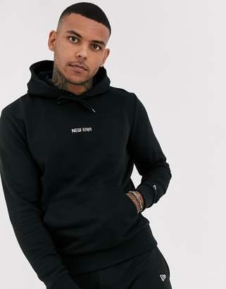 New Era Essentials hoodie in black