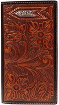 Ariat Tan Rodeo Tooled Arrow Leather Wallet