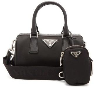 Prada Mini Bowling Nylon Cross-body Bag - Black