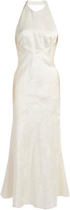 MARKARIAN Cecelie Tie-Detailed Silk Midi Dress