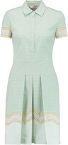 Tory Burch Emmy printed pleated stretch cotton-poplin dress