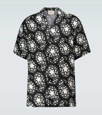 Gucci Star printed silk bowling shirt