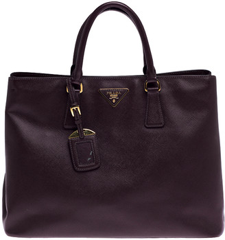 Prada Burgundy Saffiano Lux Leather Large Galleria Tote