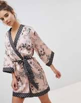New Look Satin Floral Robe