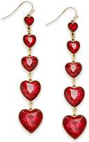 Thalia Sodi Gold-Tone Graduated Hearts Linear Earrings, Only at Macy's