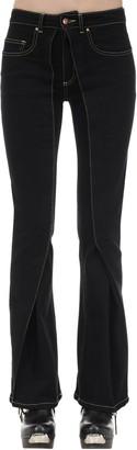 Aalto Cotton Blend Denim Jeans W/fixed Pleats